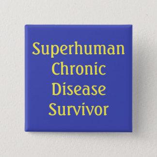 """Knopf """"des übermenschlichen chronische quadratischer button 5,1 cm"""