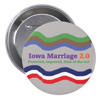 Knopf Iowa-Heirat-2,0 Runder Button 7,6 Cm