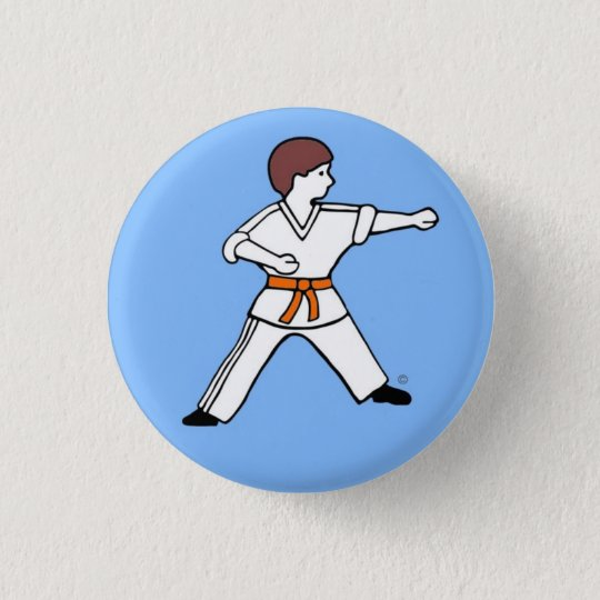 Knopf Karate Kids 9 Runder Button 3,2 Cm