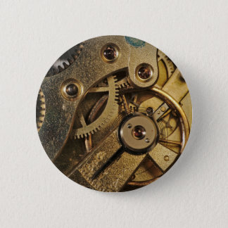 Knopf: Messing herzig. Uhr-Mechanismus Runder Button 5,7 Cm