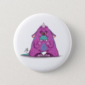 "Knopf mit ""a-"" Monster-Charakter Runder Button 5,1 Cm"