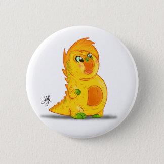 "Knopf mit ""b-"" Monster-Charakter Runder Button 5,7 Cm"