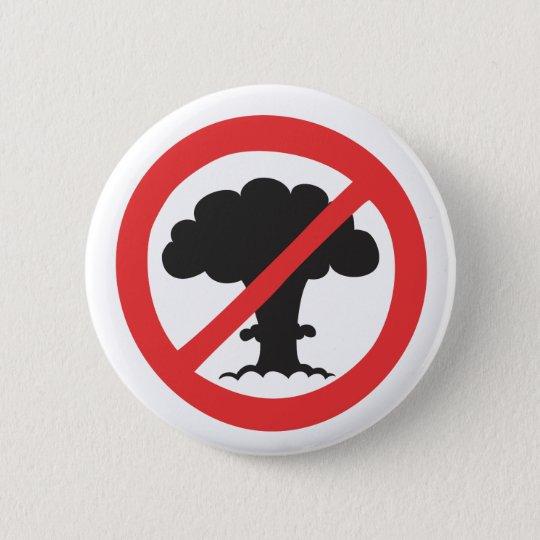 Knopf: nukleares Waffenantisymbol Runder Button 5,7 Cm