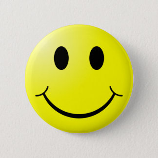 Knopf: Smiley-Knopf Runder Button 5,1 Cm