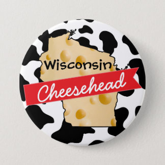 Knopf Wisconsins Cheesehead Runder Button 7,6 Cm