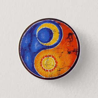Knopf Yin Yang Runder Button 3,2 Cm