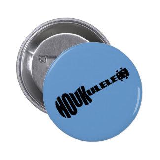 Knöpfe - Houkulele Logo - blaue Runde Runder Button 5,1 Cm