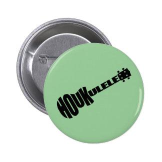 Knöpfe - Houkulele Logo - grüne Runde Runder Button 5,1 Cm