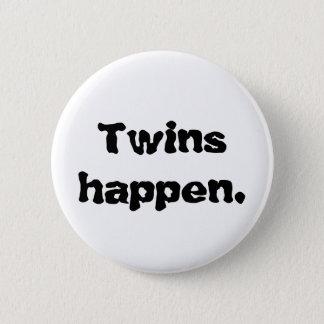 """knöpfen Sie, dass Staaten """"Zwillinge geschehen. """" Runder Button 5,1 Cm"""