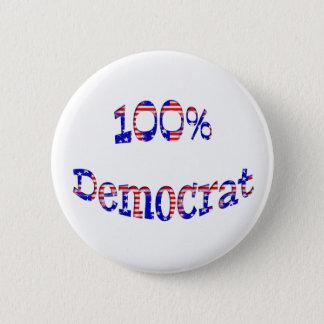 Knöpft rotes weißes Blau 100% Demokraten Abzeichen Runder Button 5,1 Cm