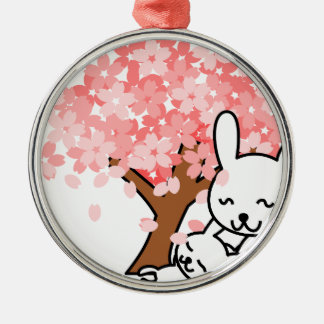 Knuddeliges Bunies Silbernes Ornament