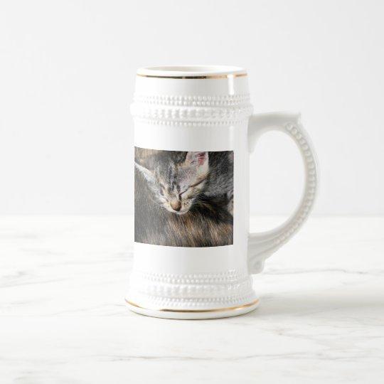 Knuddeliges Kätzchen Bierkrug