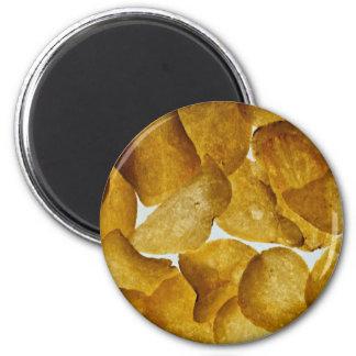 Knusperige Kartoffelchips Runder Magnet 5,1 Cm