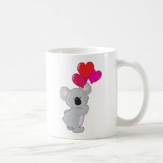 Koala-Herz-Ballone Kaffeetasse