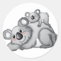 Koala Runder Aufkleber