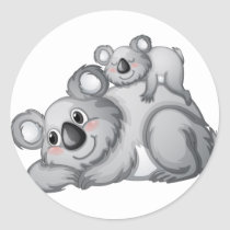 Koala Sticker Rond