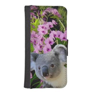 Koala und Orchideen iPhone SE/5/5s Geldbeutel