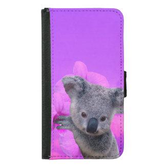 Koala und Orchideen Samsung Galaxy S5 Geldbeutel Hülle