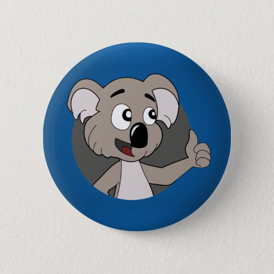 Koalabärn-Cartoon Knopf Runder Button 5,7 Cm