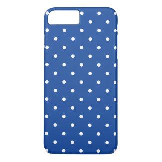 Kobalt-Blau-50er Polka-Punkt iPhone 7 Plusfall iPhone 8 Plus/7 Plus Hülle