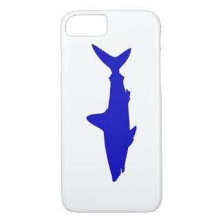 Kobalt-Blau-Schwimmen-Haifisch iPhone 8/7 Hülle
