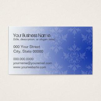 Kobalt-Blau-und Weiß-Damast Visitenkarte
