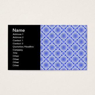 Kobalt-Blau-und Weiß-Kaleidoskop-Muster Visitenkarte