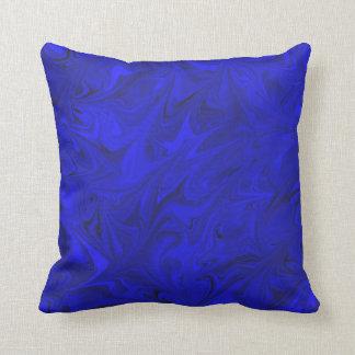 Kobalt-Marmormuster-königliches Indigo-Blau-Kissen Kissen