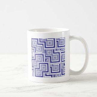 Kobalt-Puzzlespiel Kaffeetasse