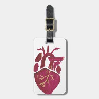Kobalt-Veilchen-Herz Kofferanhänger