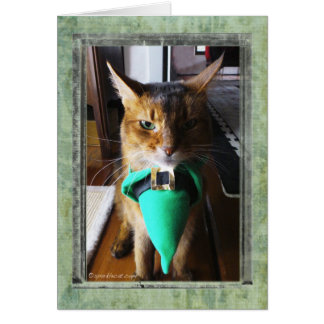Kobold-Katzen-St Patrick Tagesgruß-Karte Karte