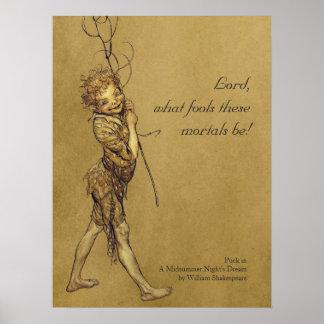 Kobold-Lord Arthurs Rackham welche Dummköpfe Poster