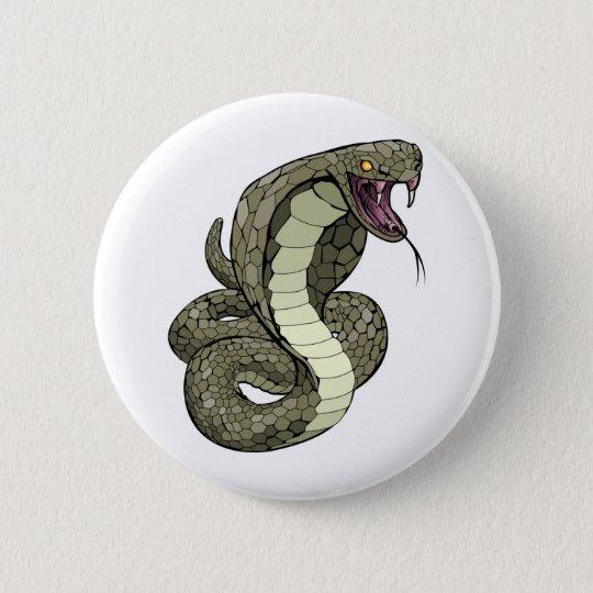 Kobraschlange ungefähr zum zu schlagen runder button 5,1 cm