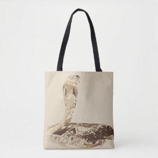 Kobraschlangenpolygon-Kunstillustration Tasche