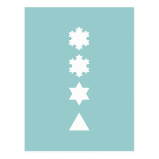 Koch Schneeflocken Postkarte