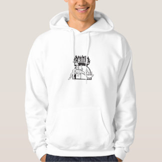 Koch tragen Alligatorgrill-Cartoon Hoodie