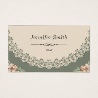 Koch - Vintager Chic mit Blumen Visitenkarten