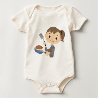 Kochen der Pfannkuchen Baby Strampler