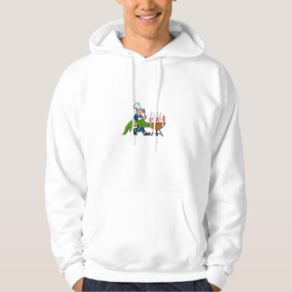 Kochs-Alligatorspachtel GRILLEN Grill-Cartoon Hoodie