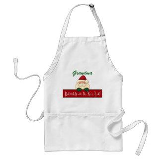 Kochs bestimmt auf der Nizza Liste mit Sankt Schürze