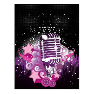 Köder des Mikrofons Postkarte