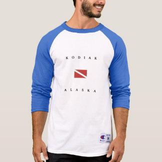 Kodiak-Alaska-Unterwasseratemgerät-Tauchen-Flagge T-Shirt