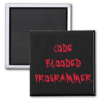 Kodieren Sie Blooded Programmierer Quadratischer Magnet