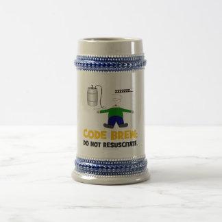 Kodieren Sie Gebräu Bierglas
