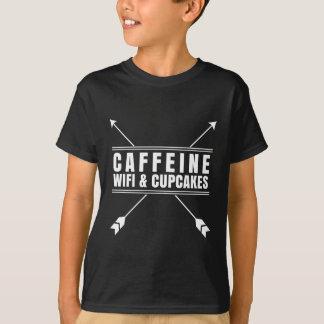 Koffein Wifi kleine Kuchen weiß T-Shirt