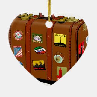 Koffer Keramik Herz-Ornament