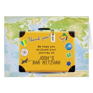 Koffer-Weltreise-Themed Bar-Schläger Mitzvah Karte