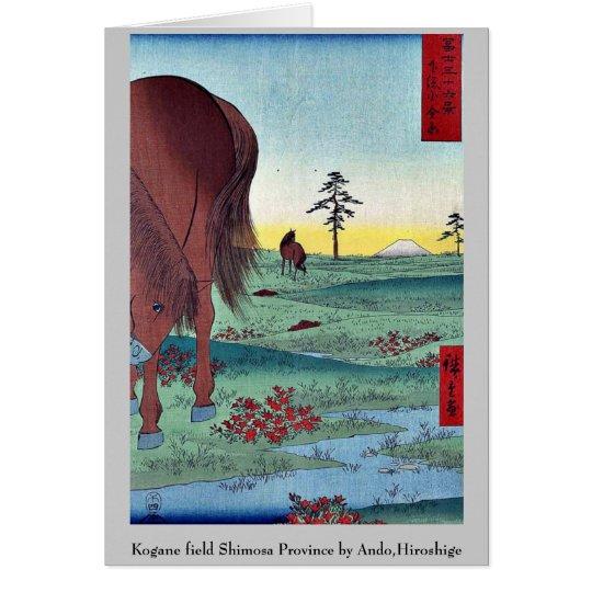 Kogane Feld Shimosa Provinz durch Ando, Hiroshige Mitteilungskarte
