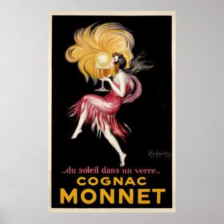 Kognak Monnet durch Cappiello Vintages Plakat