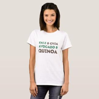 Kohl Chia Avocado-Reismelde-veganes vegetarisches T-Shirt